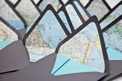 zaproszenie mapa