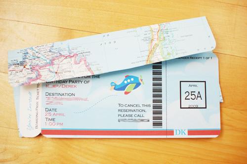 zaproszenie bilet lotniczy
